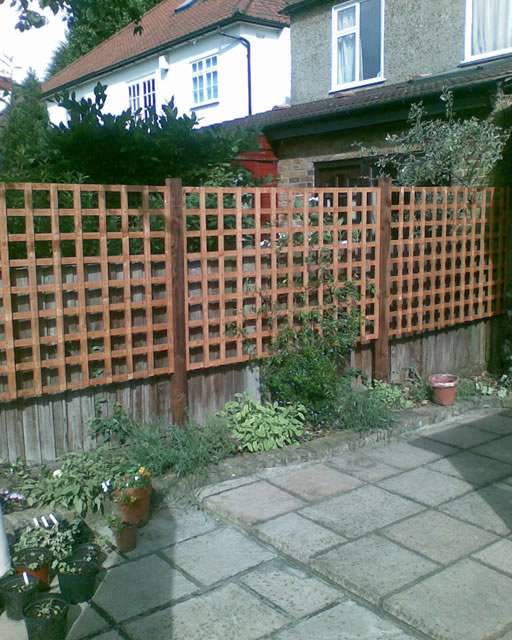 Trellis used as a screen